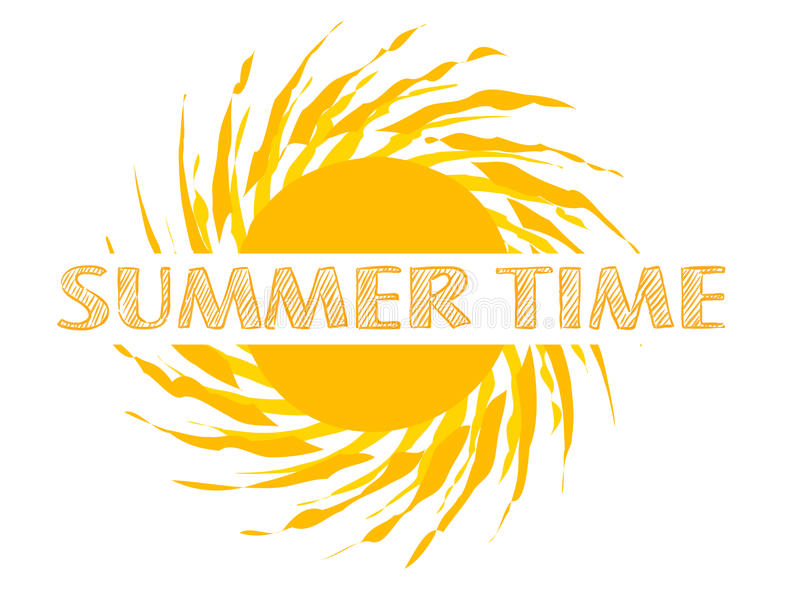 Summer time text vector illustration