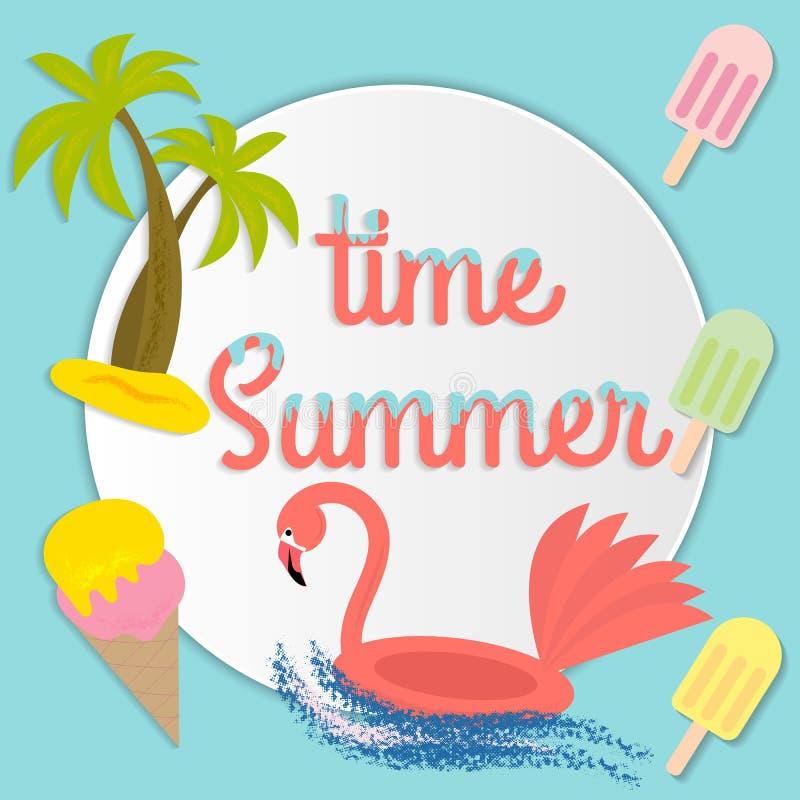 Summer time Trendy trendy modern summer illustration, great design for any purposes. Modern vector illustration. Banner royalty free illustration
