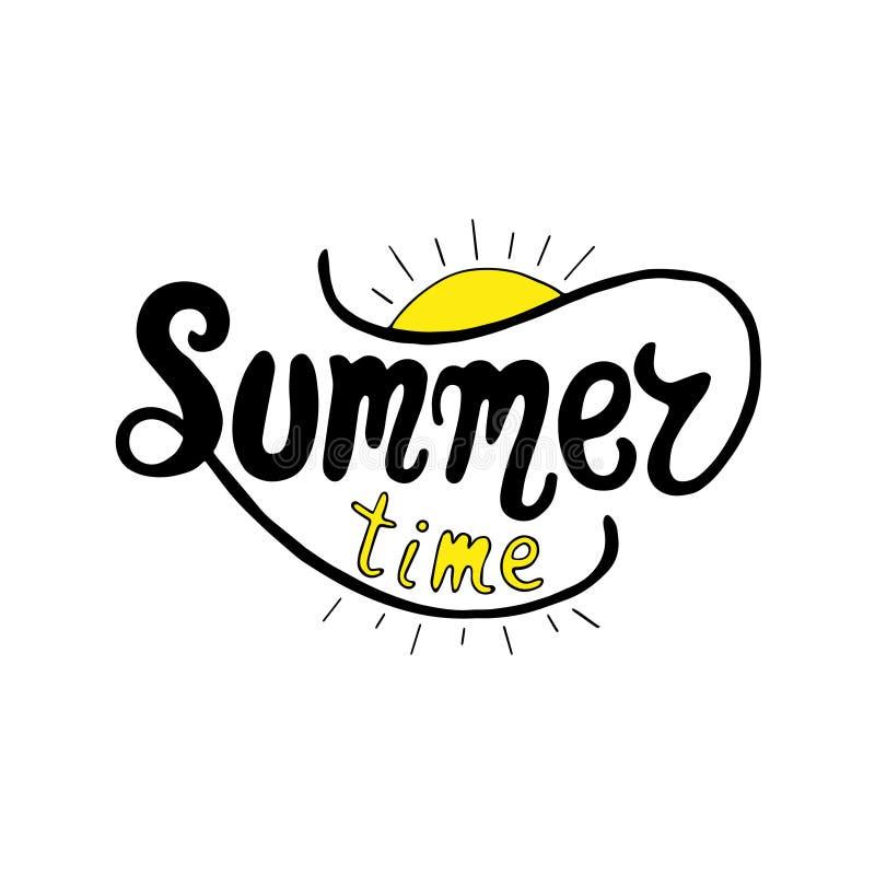Summer time. Unique lettering poster. Vector art. Trendy handwritten summer illustration. Summer time. Unique lettering poster. Vector art. Trendy handwritten vector illustration