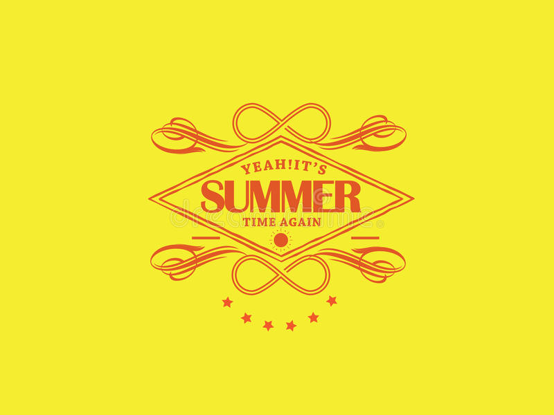 Summer time. Summer you are finally here vector illustration
