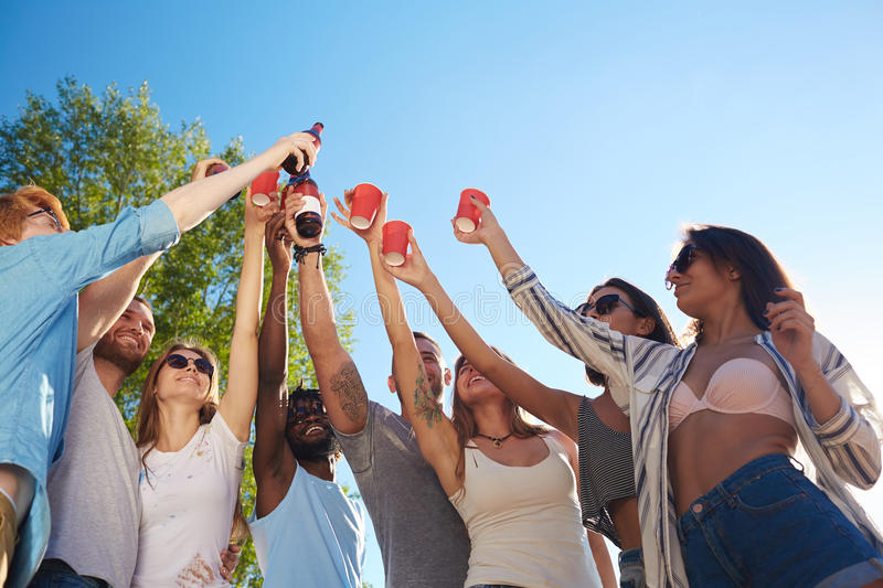 Summer toasting royalty free stock images