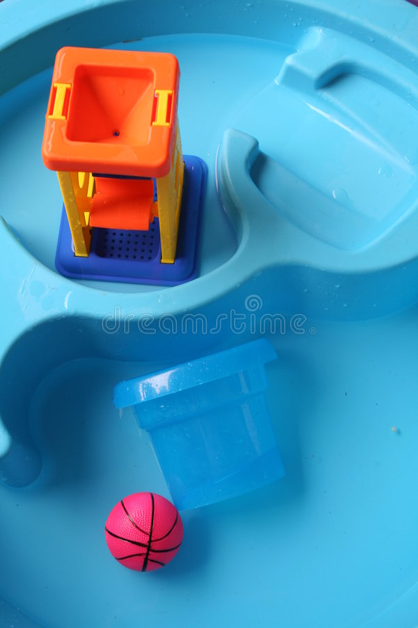 Summer toys. Summer water toys royalty free stock photo