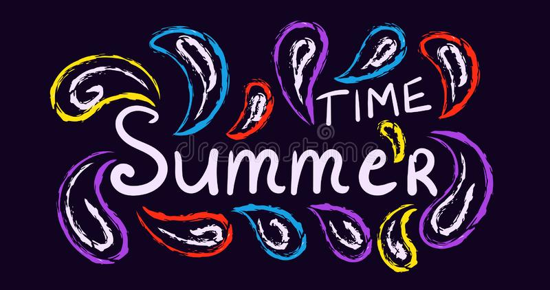 Summer traditional, carnival concept poster royalty free illustration