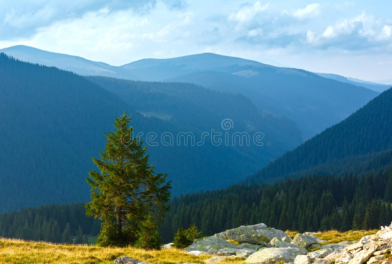 Summer Transalpina road (Carpathians, Romania). stock photos