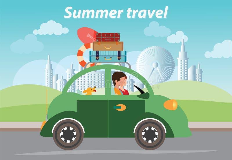 Summer travel design. royalty free illustration