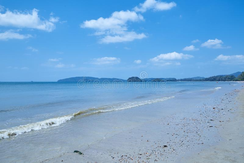 Summer travel in the Thai sea stock photo