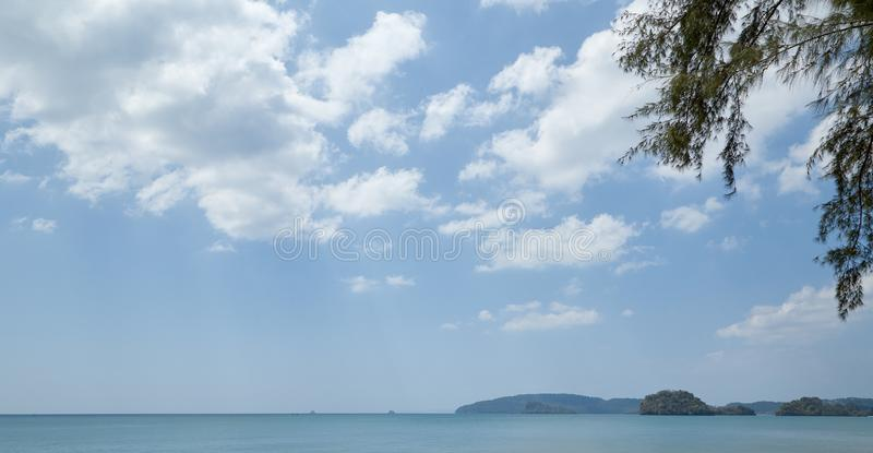 Summer travel in the Thai sea. Krabi, Thailand Holiday in Thailand - Beautiful Island of Krabi with Sandy Beaches stock images
