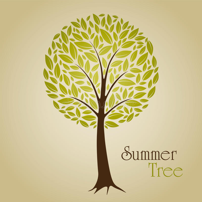 Download Summer tree stock vector. Image of silhouette, spring - 21826514