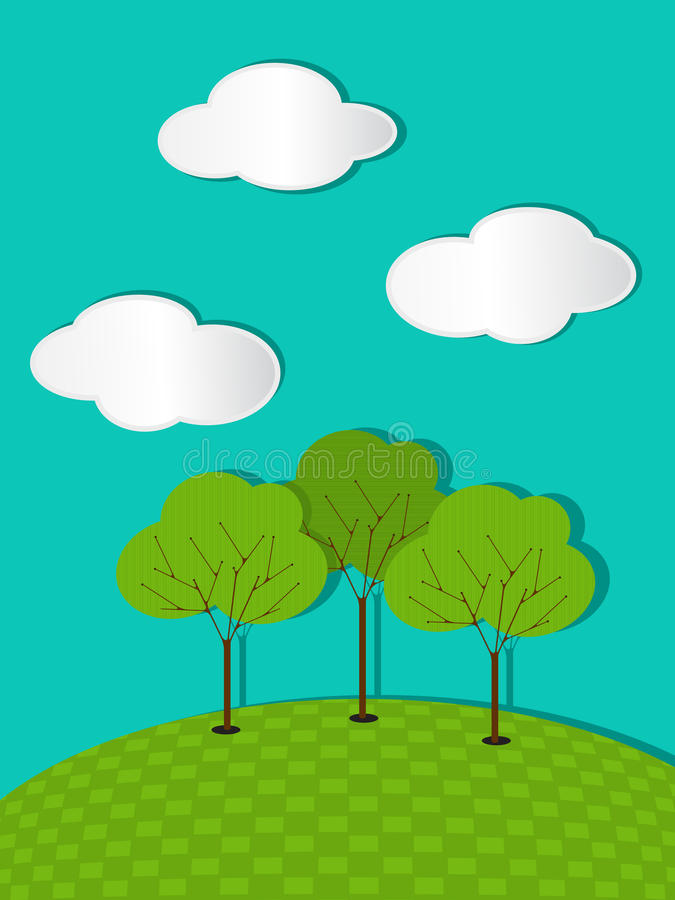 Download Summer trees background stock vector. Illustration of poster - 27529553