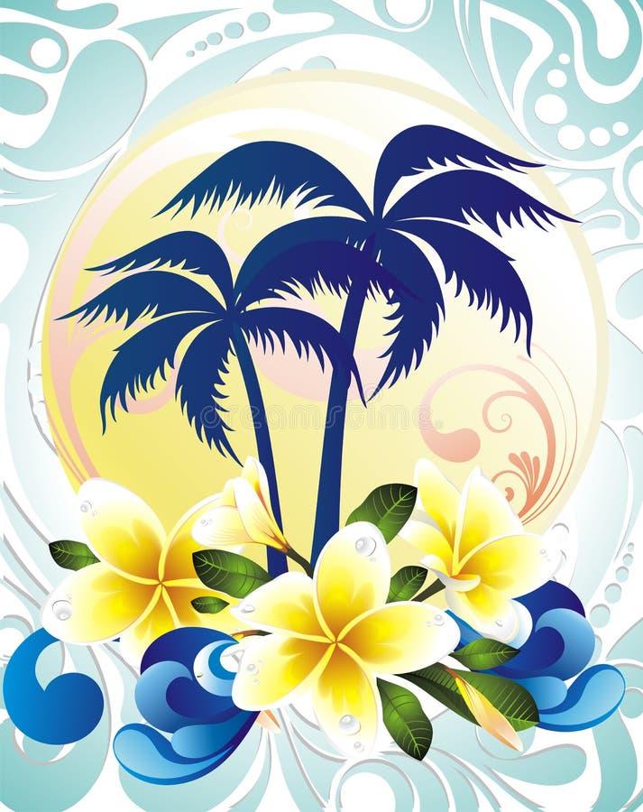 Download Summer tropical background stock vector. Image of fiesta - 19438455