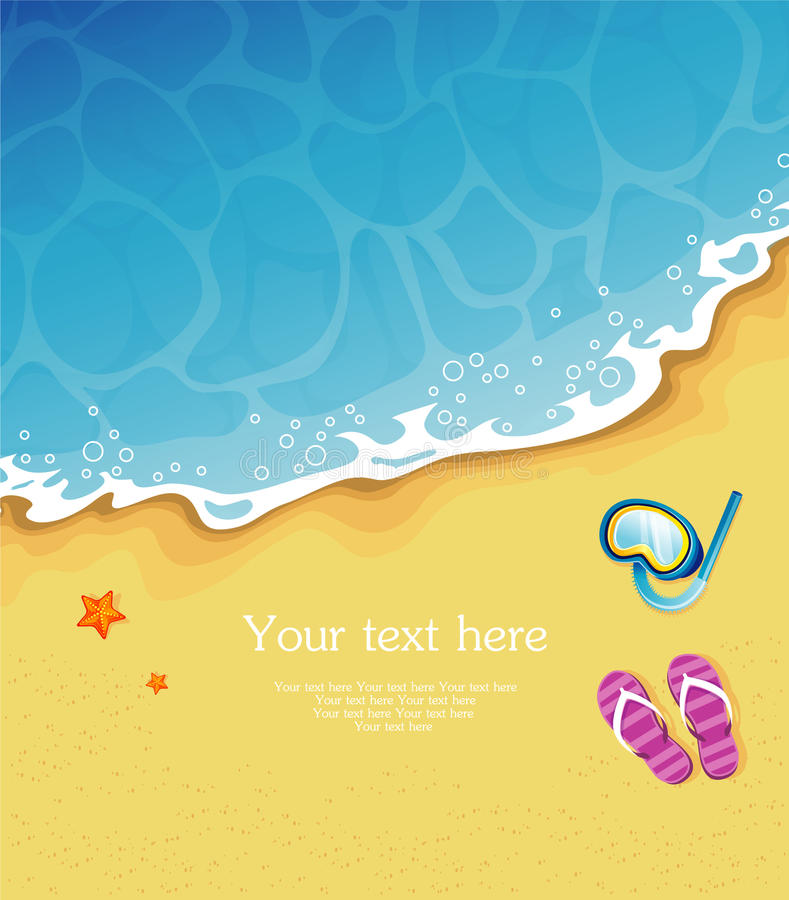 Download Summer tropical banner stock vector. Image of exotic - 25005784