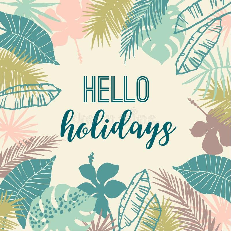 Free Summer Tropical Design. Vector Template. Stock Photos - 105004573