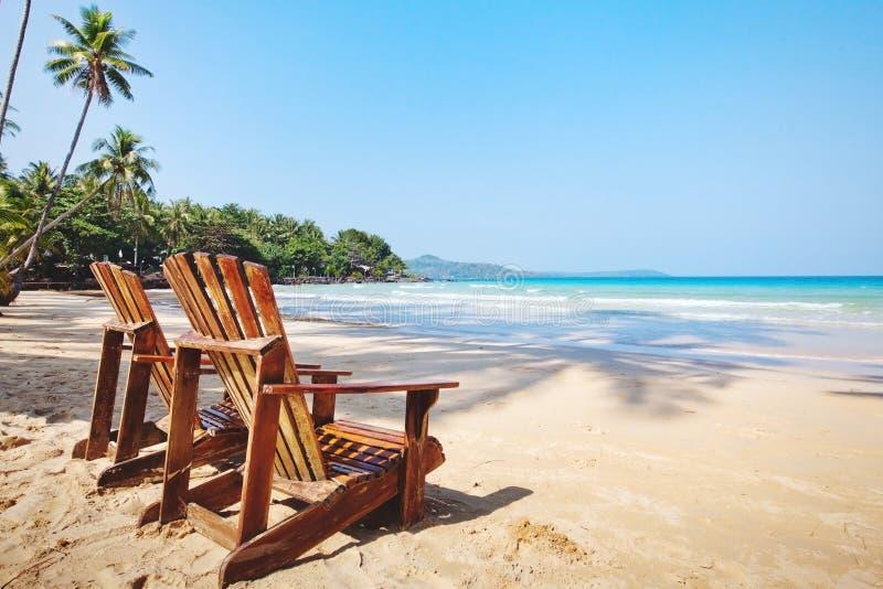 Summer tropical holidays, beach hotel stock photo
