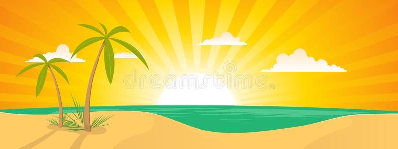 Summer Tropical Island Landscape royalty free illustration