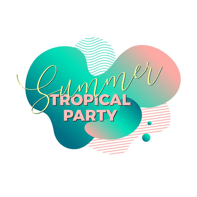 Summer tropical party. Trendy design template stock images