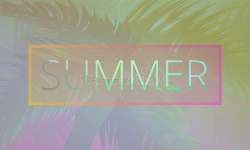 Summer tropical resort concept banner, cartoon style royalty free illustration