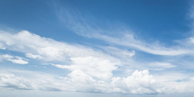Summer tropical sky and clouds stock image