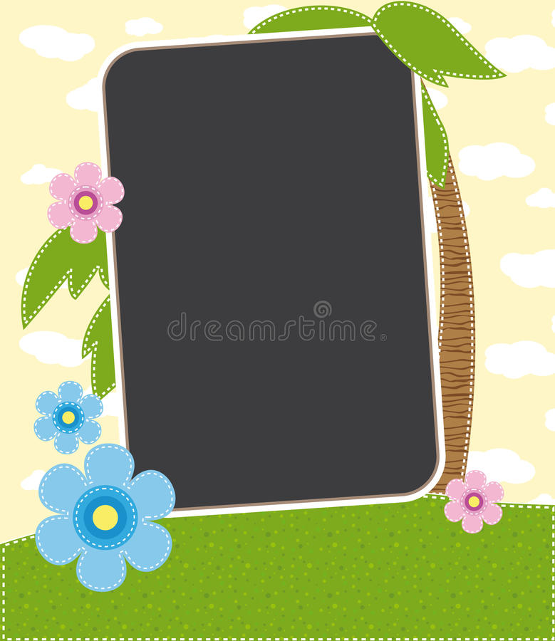 Download Summer tropics photo frame stock vector. Image of summer - 19429522