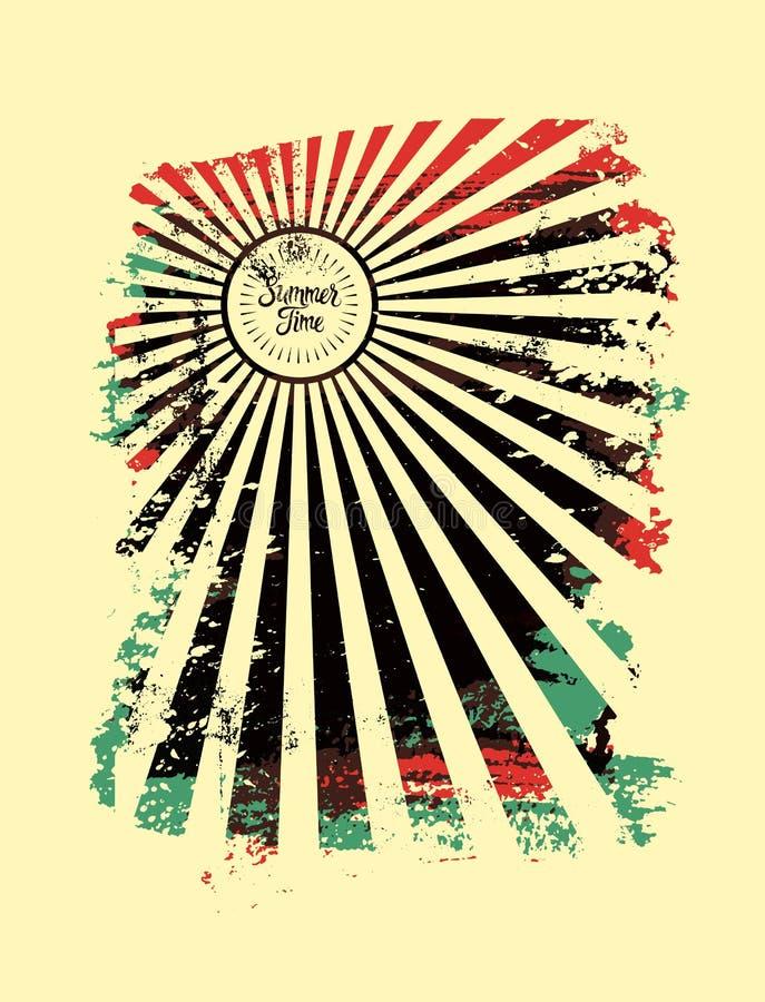 Summer typographic grunge retro poster design. Vector illustration. Summer typographic retro poster design. Vector illustration royalty free illustration