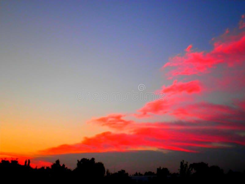 Summer, Ukraine. Unusual sunset. royalty free stock images