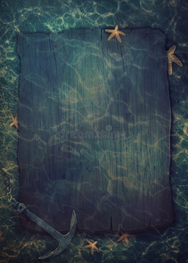 Summer Underwater Background Stock Illustration
