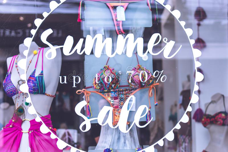 Summer Up to 70% Sale Text royalty free stock photo