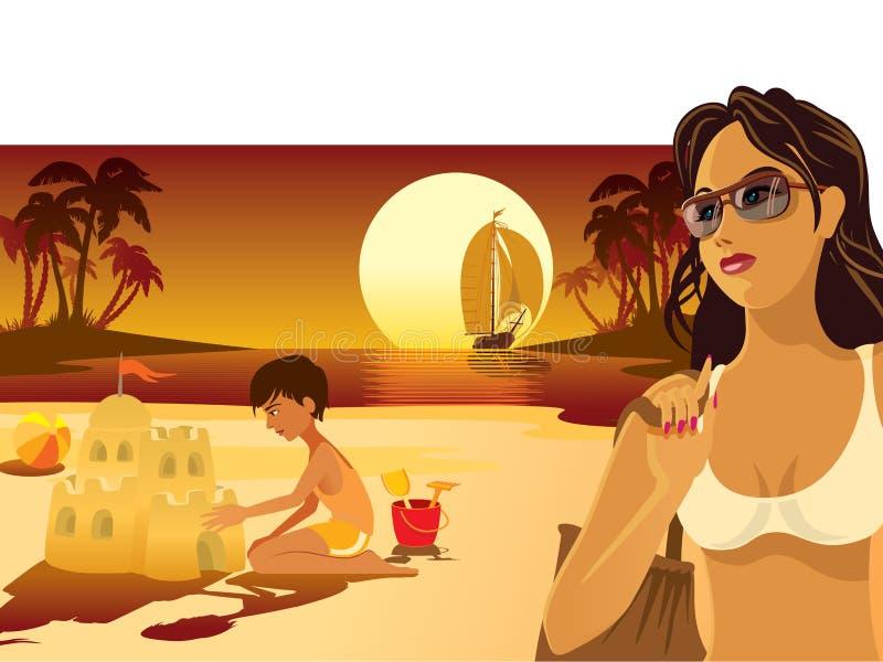 Summer vacation. Tropical island, people having fun at the beach