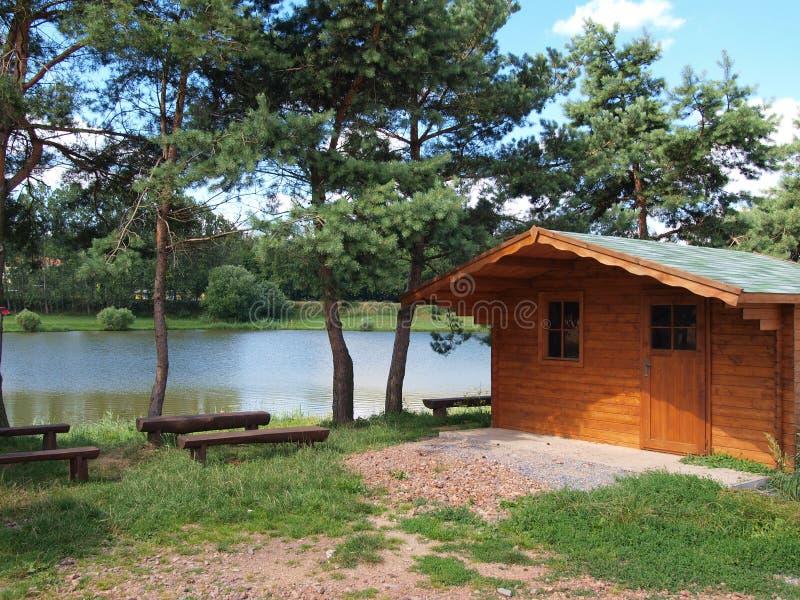 SUMMER VACATION. Cabin near lake royalty free stock photography