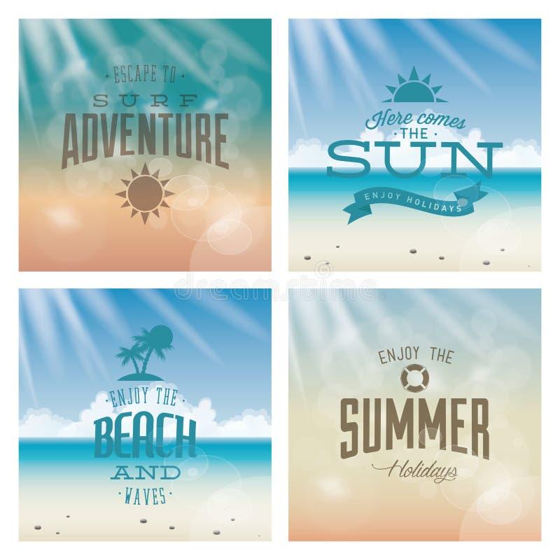 Summer Vacation royalty free illustration