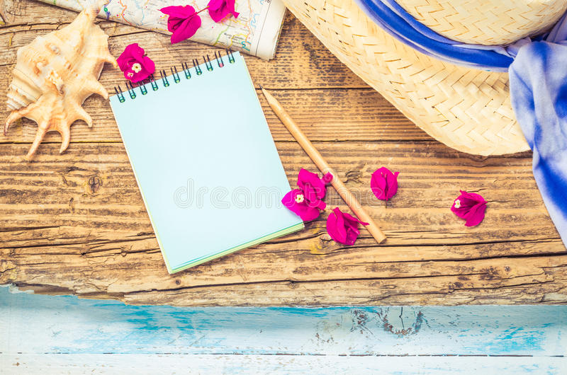 Summer vacation background. stock images