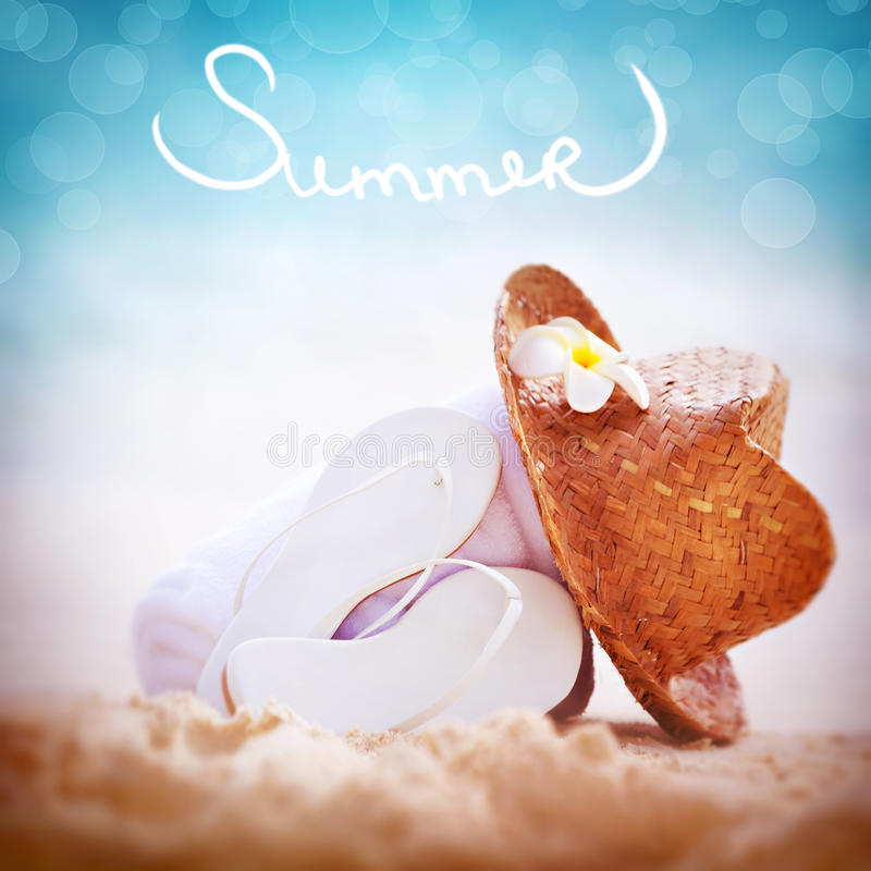 Summer vacation background royalty free stock photos