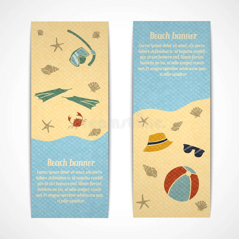 Download Summer Vacation Banners Vertical Stock Vector - Illustration of decorative, coast: 39503211