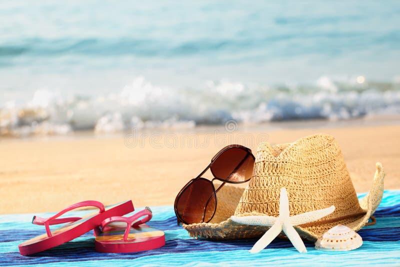 Summer vacation at beach stock images