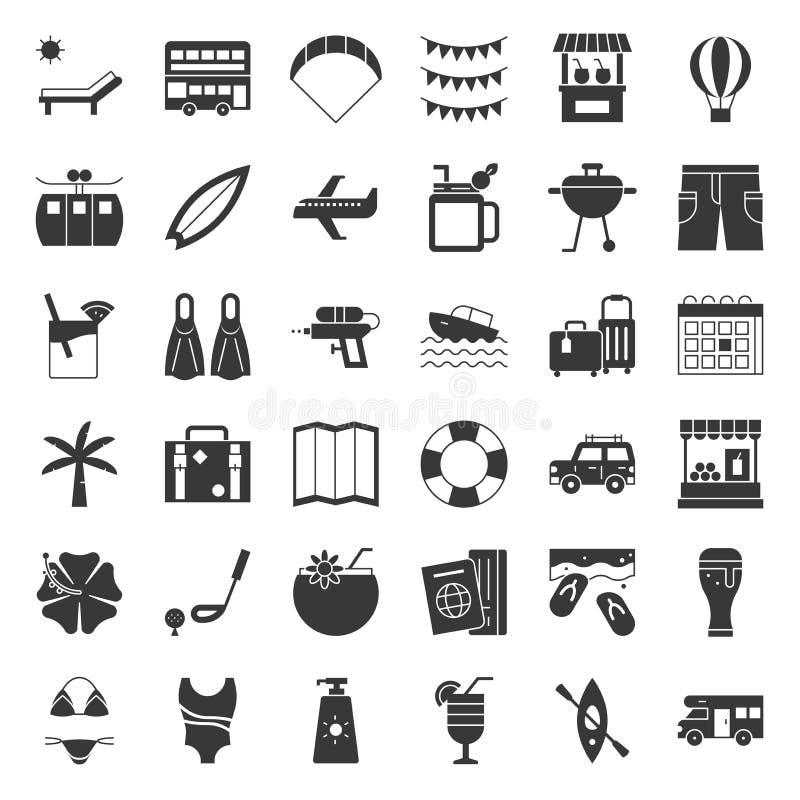 Summer vacation solid icon stock illustration