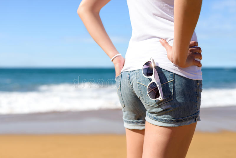 Summer vacation and leisure on beach royalty free stock photos
