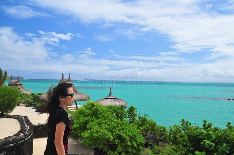 Summer Vacation at Mauritius stock photo