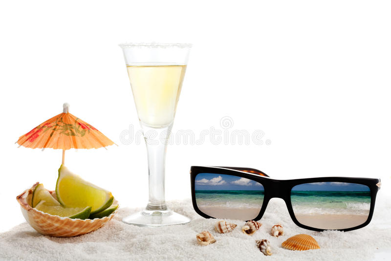 Summer vacation objects stock image