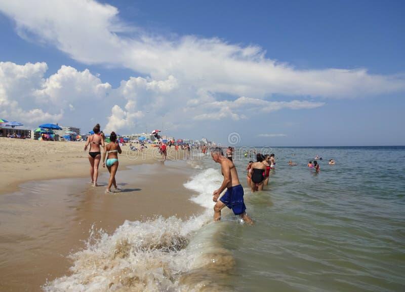 Summer Vacation in Ocean City Maryland stock photos