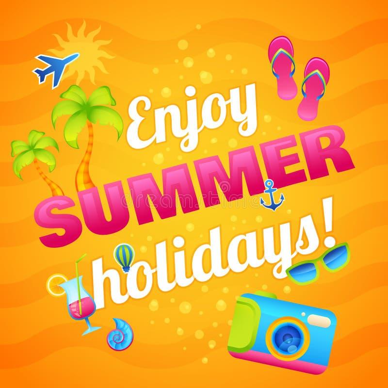 Couple Enjoying Their Summer Holidays Stock Photo: Summer Vacation Poster Stock Vector. Illustration Of Plane