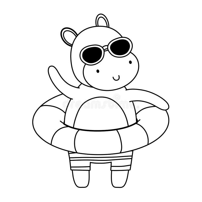 Summer vacation relax cartoon vector illustration royalty free illustration