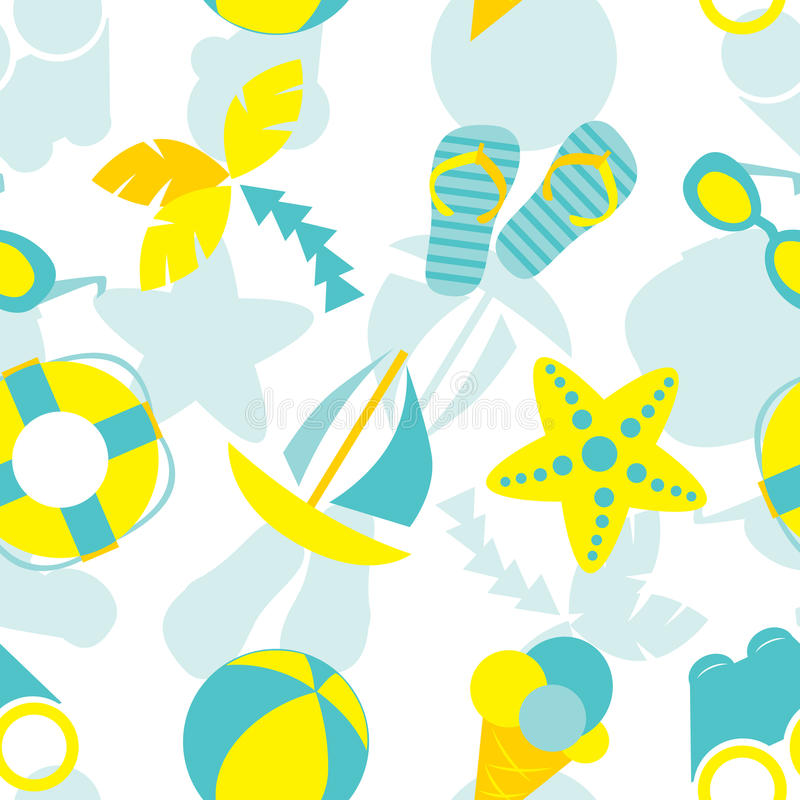 Download Summer Vacation Seamless Pattern Stock Vector - Illustration of design, decor: 31707845