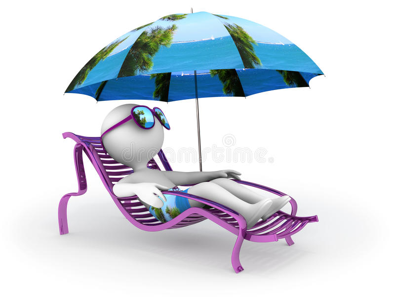 Download Summer Vacation: Seashore Relaxation Stock Illustration - Illustration: 25792168