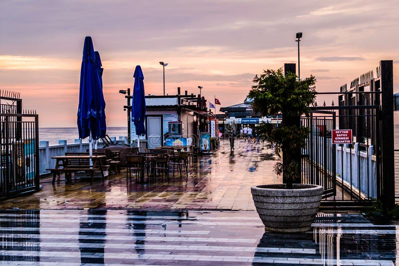 Summer Vacation Town After Heavy Rainfall - Turkey royalty free stock photos