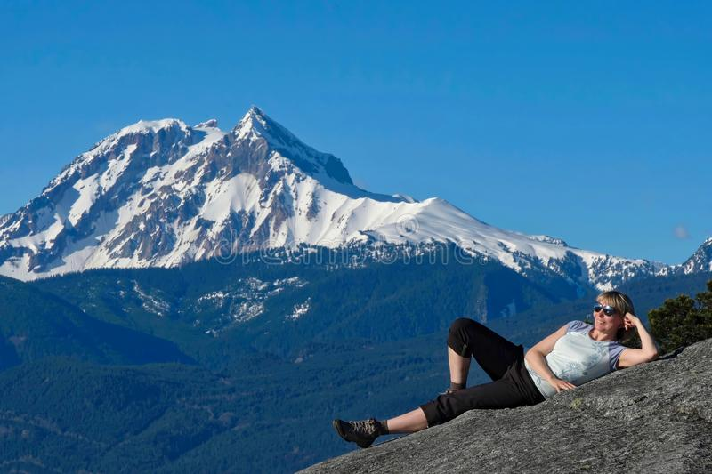 Summer vacation travel around Vancouver. stock photography