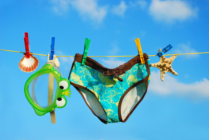 Download Summer vacations stock image. Image of line, summer, rope - 15256143