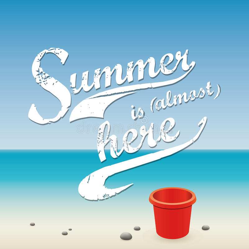 Summer Vacations. Abstract summer holiday vacations background with special objects stock illustration
