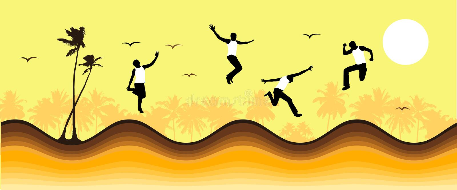 Download Summer Vacations, Funny People Stock Vector - Image: 9342924
