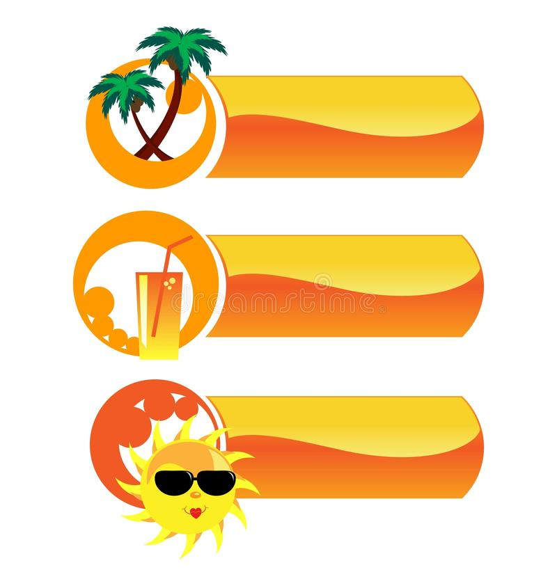 Download Summer vector icons. stock vector. Image of sign, icon - 19828911