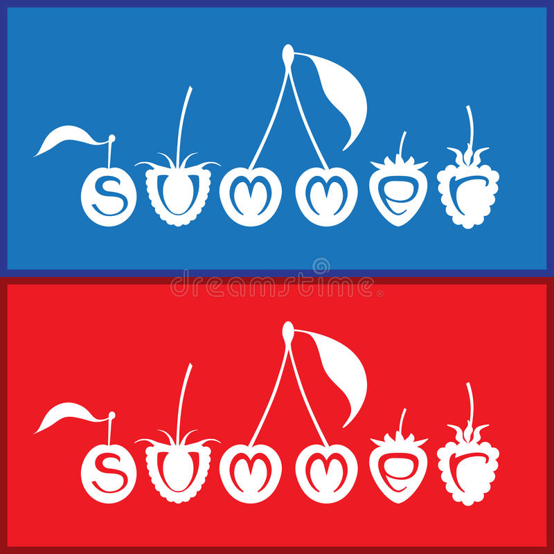 Summer vector illustration royalty free stock image