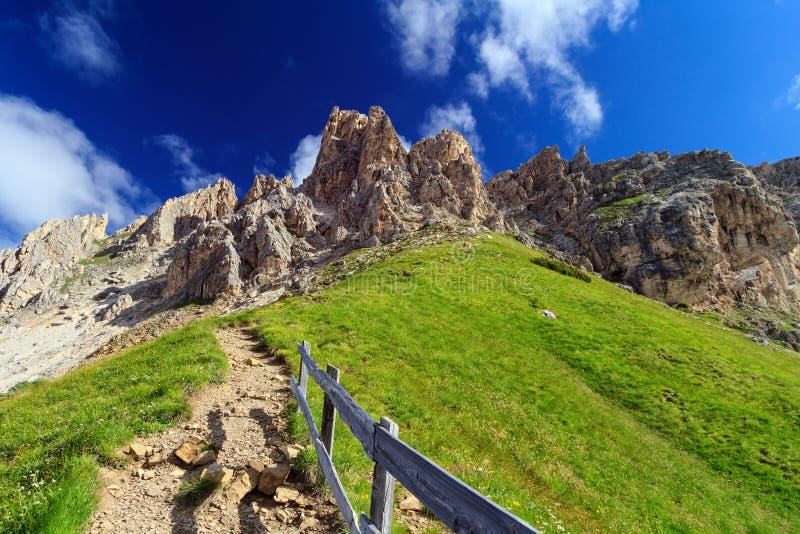 Dolomiti - Cir mount from Gardena pass royalty free stock photos